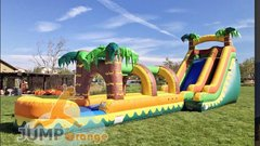 18 FT Tropical Aloha Slide w/ Slip N Slide