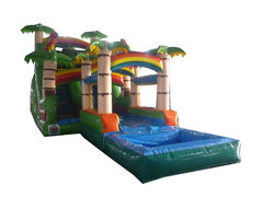 18ft Amazon Slide w/Slip N Pool