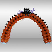 Holloween Three Color Balloon Arch-