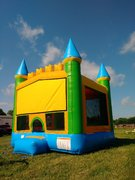 Yellow & Green Castle Bounce