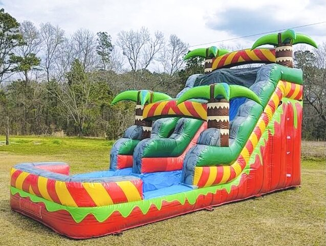 Jungle Palm Tree 15FT Water Slide