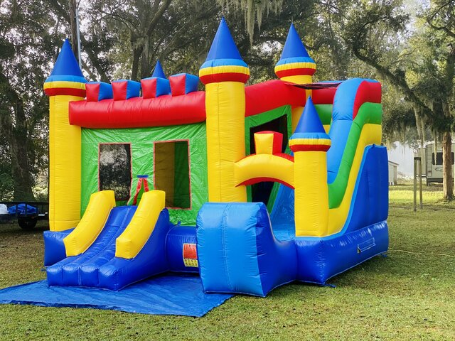 Casa Bella 15ft Bounce House / Dry Slide Combo