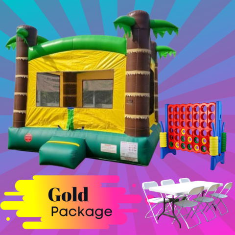 Gold Bounce House Package