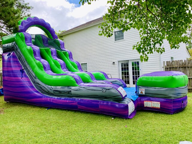 Purple Marble 15ft Water Slide