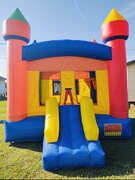 Multi Color Bounce House with Slide