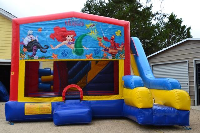 Little Mermaid Bouncer/Obstacle/Slide Combo (5-1)