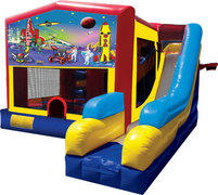Outer Space Bouncer/Obstacle/Slide Combo (5-1)