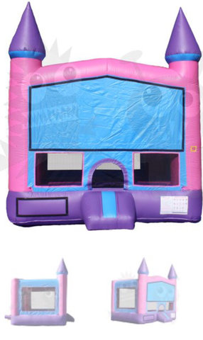 ASJ - Pink 13'x13' Castle with Basketball Hoop!