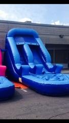 ASJ - 14' Slide, 3 in 1 Slide, Climb, Slide, Basketball Hoop!