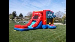 ASJ - Bounce and Slide Combo WIth Basketball Hoop $199 Dry/$259 Wet