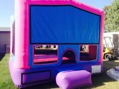 ASJ- Girls Bounce House Package! 2 tables, 12 Chairs, Cotton Candy