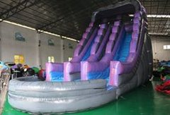 20' Purple Mountain Dual Lane Water Slide
