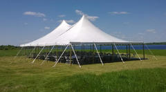 40ft x 40ft x 21ft High Peak Wedding Tent