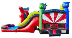 Ninja Bounce House and Slide 6 in 1 Fortress (Wet)