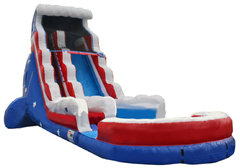 18ft Stars and Stripes Waterslide (Wet)