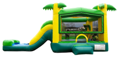 Tropical Combo Water Slide & Bounce House (Wet)