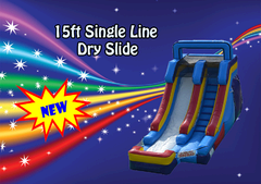 15ft Single Line Wet or Dry Slide