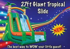 27ft Tropical Dry Slide