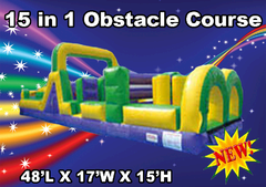 15 in 1 48'  Obstacle Course