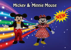 Mickey & Minnie Party Characters