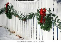 Decorated Christmas Fencing