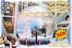 16ft Giant Human Snow Globe