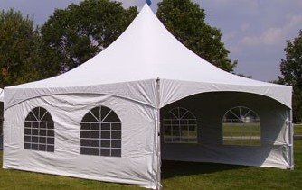 20 x 20 High Peak Tent with 3 Side Walls $350