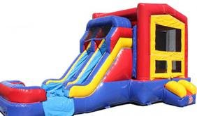Dual Lane Fun House Dry Combo Bouncer