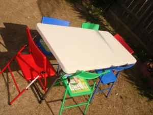 Kid Table and 6 kid Chair Set