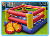 Large Inflatable Boxing Ring with Gear $300