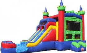 Dual Lane Royal Castle Combo Water Slide