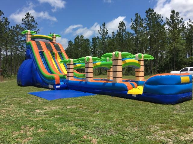 24ft Dual Lane Tropical Slip N' Slide