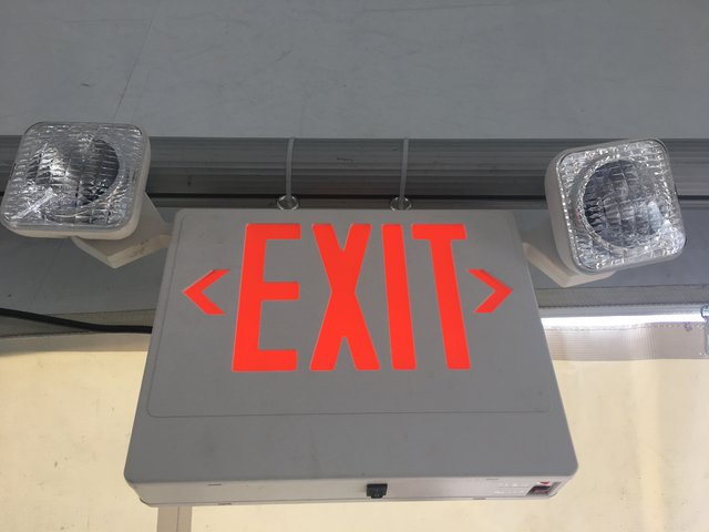 Safety - Emergency Exit Sign w/ Lights
