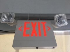 Emergency Exit Sign w/ Lights