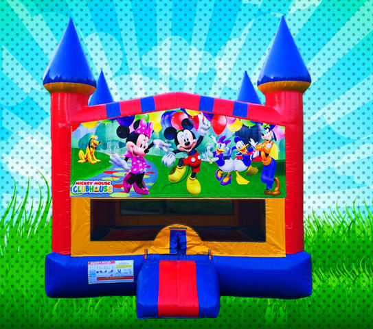 MOUSE HOUSE! Primary Colors Modular Bounce House
