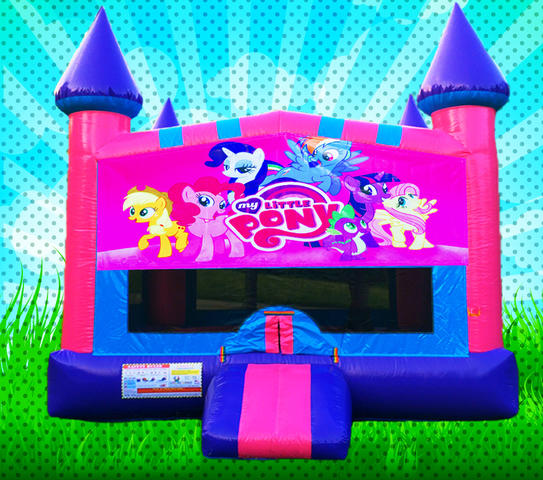 MY LITTLE PONY Pink, Purple, Light Blue Colors Modular Bounce House