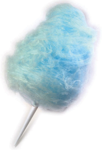 Blue Raspberry Cotton Candy Sugar And Cones