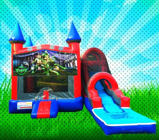 WET TMNT Red, Blue, Gray Colors Modular Combo Bounce House