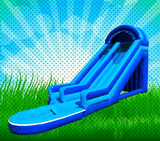 20 FOOT WET BLUE GIANT SLIDE WITH POOL