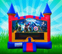 SUPER HEROS Primary Colors Modular Bounce House