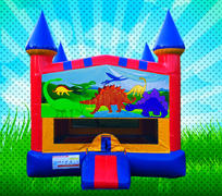 DINOSAURS Primary Colors Modular Bounce House