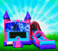 DRY ICE PRINCESS Pink, Purple, Light Blue Colors Modular Combo Bounce House