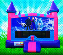 ICE PRINCESS Pink, Purple, Light Blue Colors Modular Bounce House