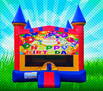 HAPPY BIRTHDAY Primary Colors Modular Bounce House
