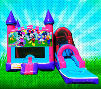 WET MOUSE HOUSE Pink, Purple, Light Blue Colors Modular Combo Bounce House