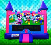 MOUSE HOUSE Pink, Purple, Light Blue Colors Modular Bounce House