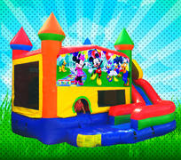 WET MOUSE HOUSE Primary Colors Modular Combo Bounce House