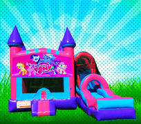 DRY MY LITTLE PONY Pink, Purple, Light Blue Colors Modular Combo Bounce House