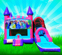 WET PRINCESSES Pink, Purple, Light Blue Colors Modular Combo Bounce House