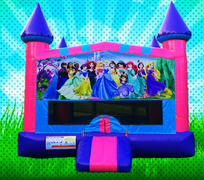 PRINCESSES Pink, Purple, Light Blue Colors Modular Bounce House